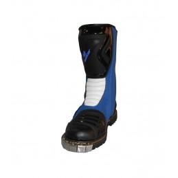 Botas de cross colores azul...