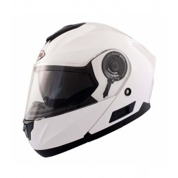 Casco modular shiro blanco...