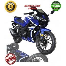 Moto Malcor Furious RR azul